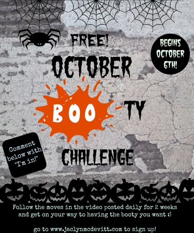October booty challenge