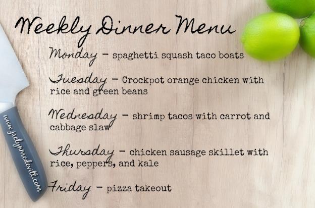 weekly dinner menu 1
