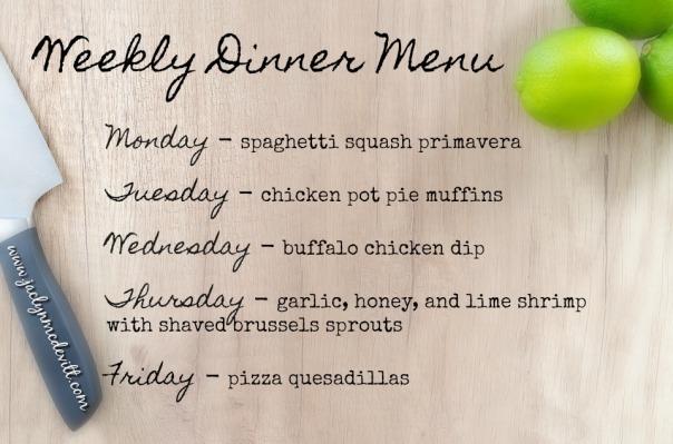 weekly dinner menu 4