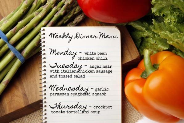 weekly dinner menu 5