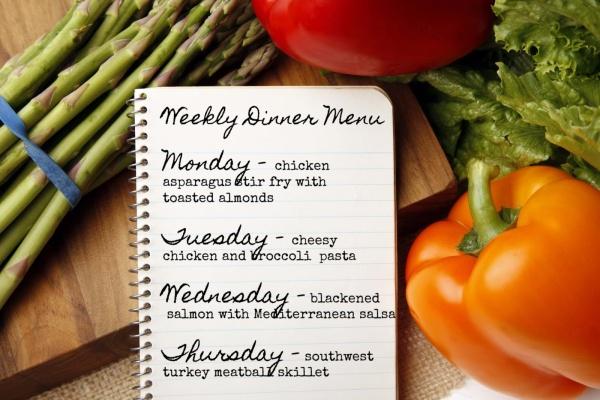 weekly dinner menu 6